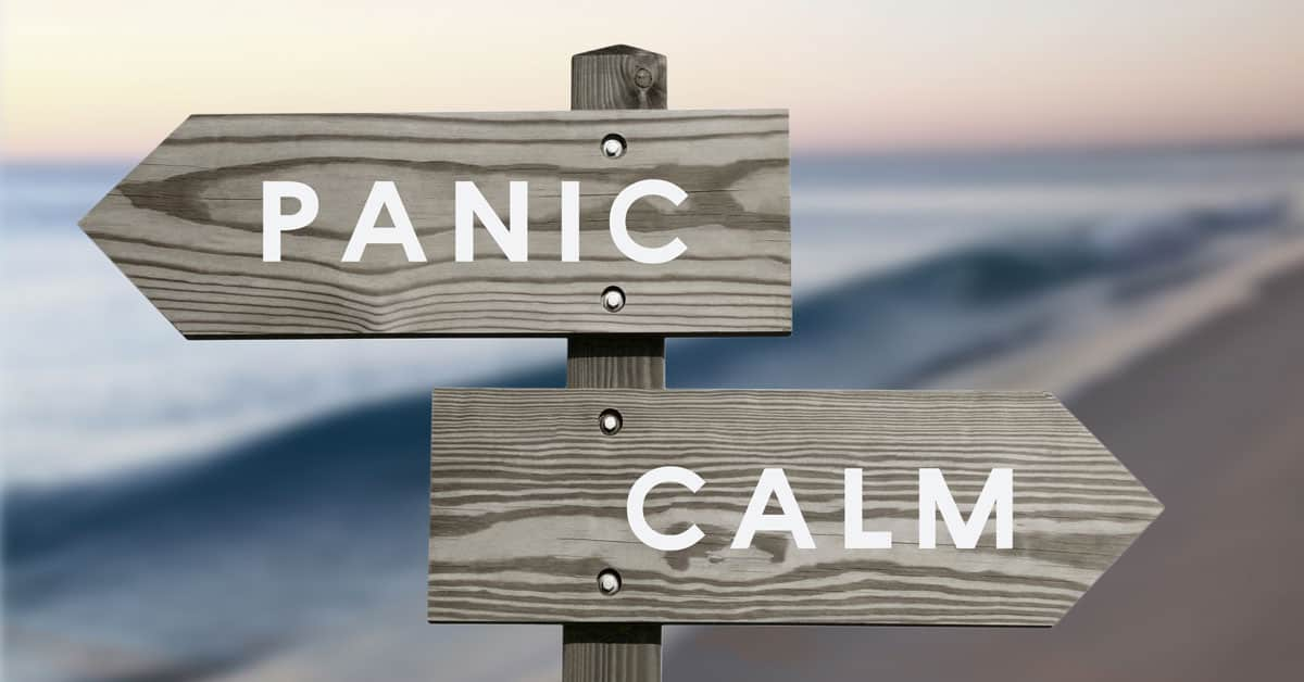 Panic Attack | A Directional Sign On A Beach