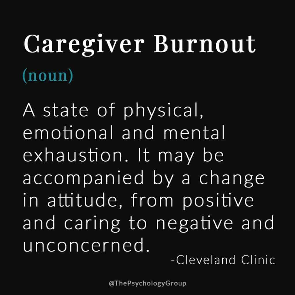 Definition of Caregiver Burnout
