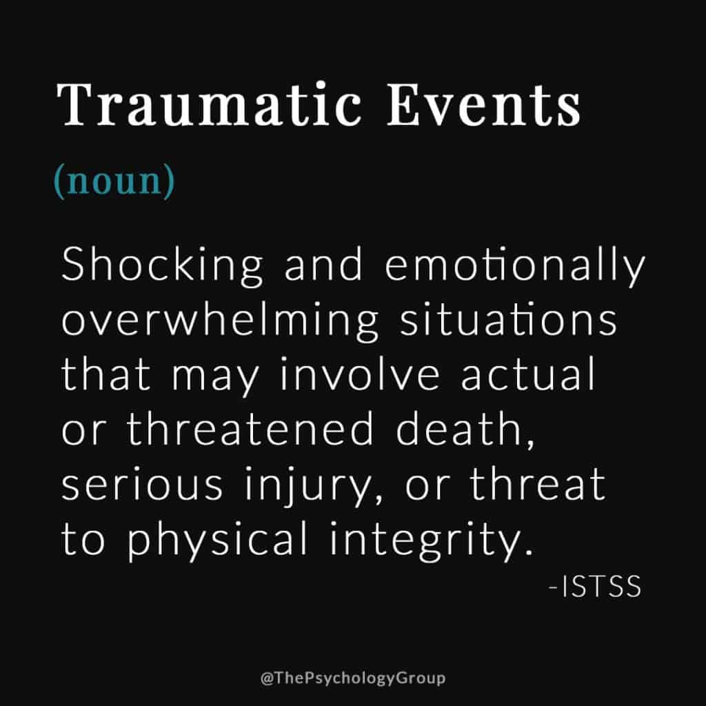 Traumatic Events Defined