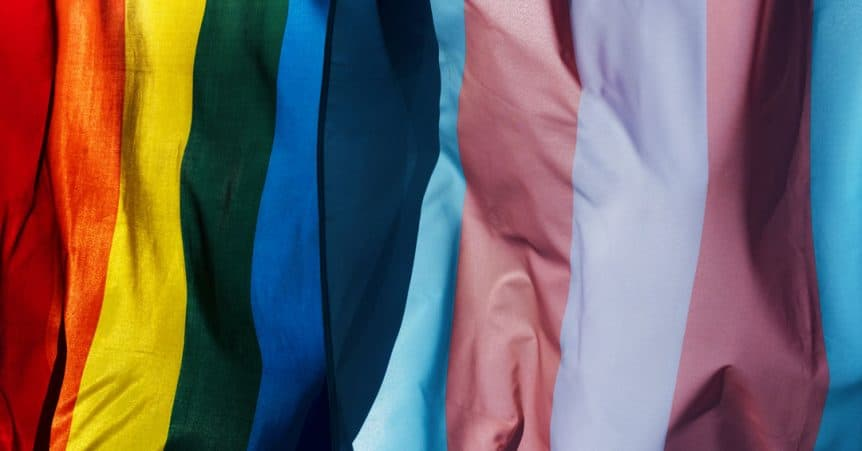 Gay Pride and Transgender Flags Fort Lauderdale
